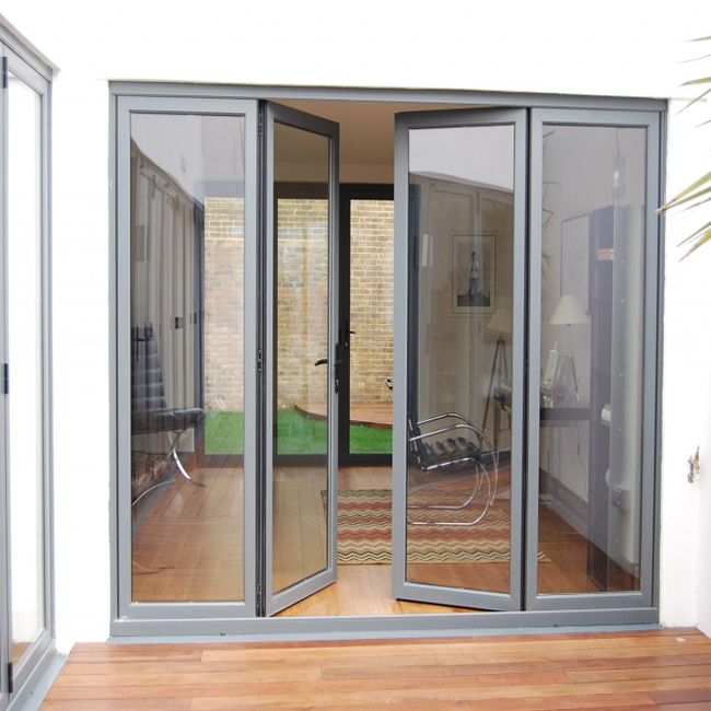 Double glass soundproof commercial aluminum glass swing door - Soundproof french doors exterior ...