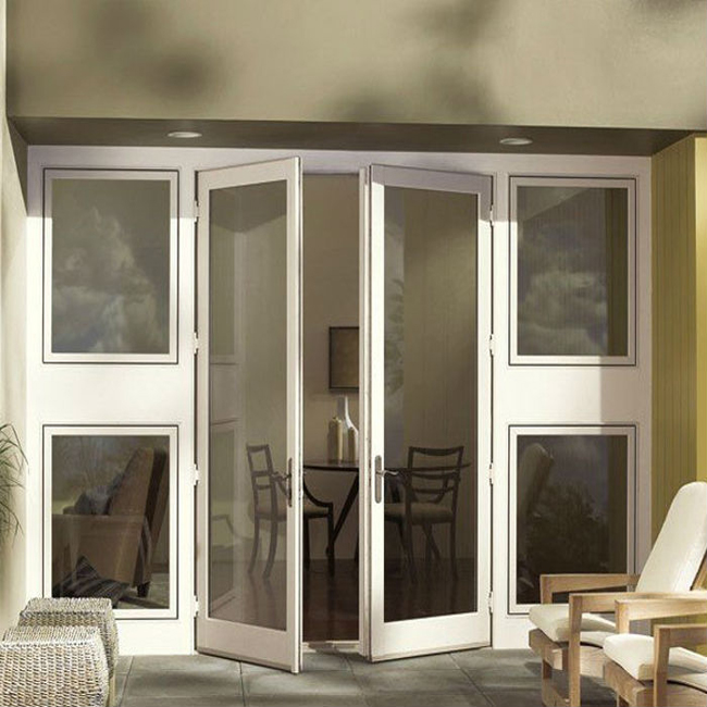Double glass soundproof commercial aluminum glass swing door - Commercial aluminum exterior doors ...