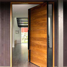 Modern Front Entry Pivot wood Doors